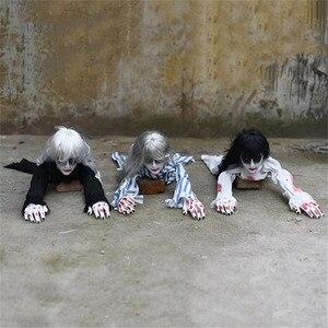 Image 2 - Украшение на Хэллоуин, ползающий призрак, электронная игрушка, реквизит ужаса, женщина, дьявол, домашний клуб, бар, дом с привидениями, вечерние украшения