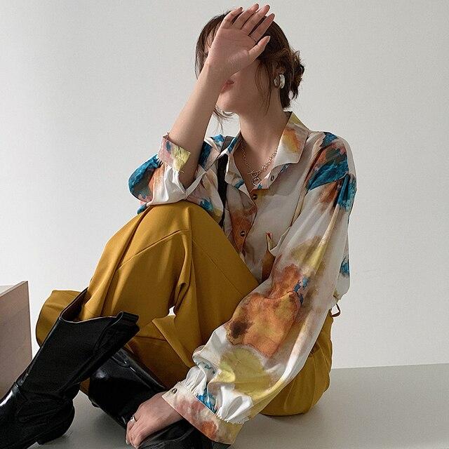 Oversized Long Sleeve Blouse  2