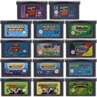32 비트 비디오 게임 카트리지 콘솔 카드 nintendo gba mariold kart 골프 테니스 파티 luig us/eu 버전 mari series edition