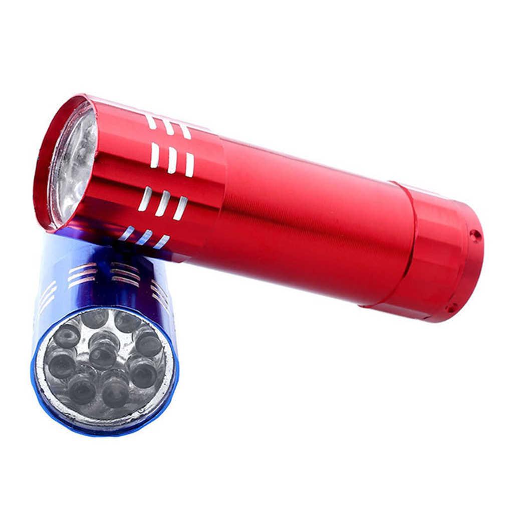 เครื่องเป่าเล็บ Mini 9 ไฟ LED ไฟฉาย UV โคมไฟเล็บแบบพกพาเจลแห้งเร็วเล็บเครื่องมือ