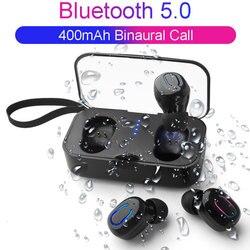 Bluetooth Earphones 5.0 Mini TWS Wireless Headphones Wireless Hifi Stereo Headsets Earphones Waterproof Sports Earbuds Phone Mic