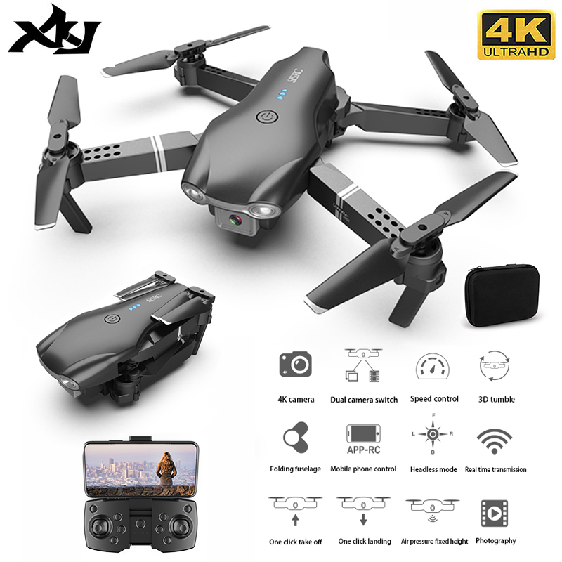 XKJ S602 RC Drone 4K HD Dual Camera Professional Aerial Photography WIFI FPV Foldable Quadcopter Height Hold DronToy|RC Quadcopter| - AliExpress