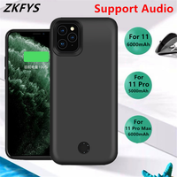 Battery Charging Case For iPhone 11 Pro Max External Power Cases 6000mAh Charger Cover For iPhone 11 Pro Power Bank Battery Cove