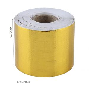 1Roll Golden Car Aluminum Foil Adhesive Reflective Heat Shield Wrap Tape sound insulation soundproof car accessories