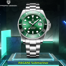 PAGANI Design Luxury Brand Men Watches Automatic Green Watch Men Stain