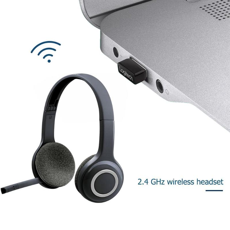 Logitech H600 2 4ghz Wireless Headset Headphones With Mic For Pc White Computer Peripheral Accessories Phone Earphones Headphones Aliexpress