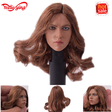 1/6 Scale Female Head American Civil War Black Widow 5.0 Version Scarlett Johansson Head Sculpt Carving F 12