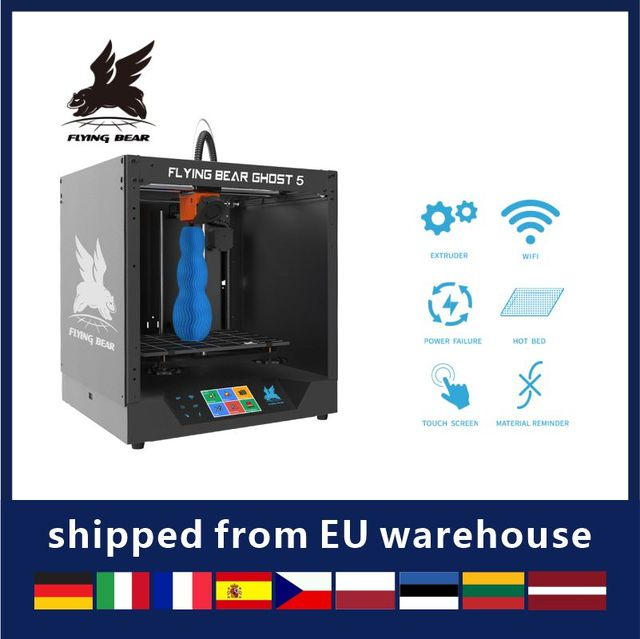 2020 Popular Flyingbear-Ghost 5 3d Printer full metal frame  diy kit with Color Touchscreen gift TF Shipping from Russia 1