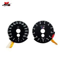 DASH Brand New EL glow gauge for E60 M5 E92 M3 E63 M6 330KM 9000RPM Black Panel Reverse White Light