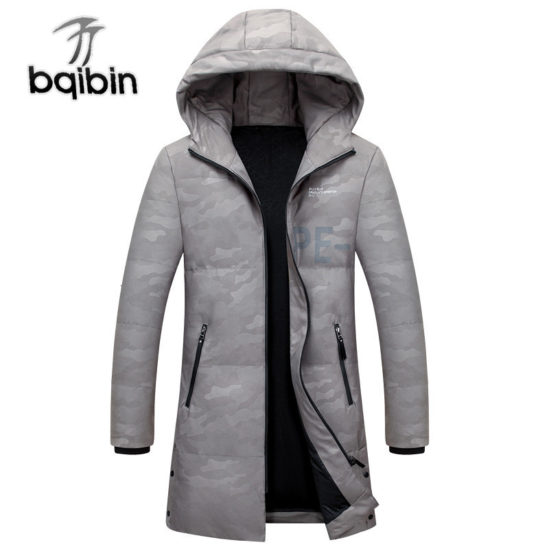 2019 Winter Men's Long Thick   Down     Coats   Hooded Fashion White Duck   Down   Jackets Casual   Down   Parkas Male Winter Outerwear Bqb9918