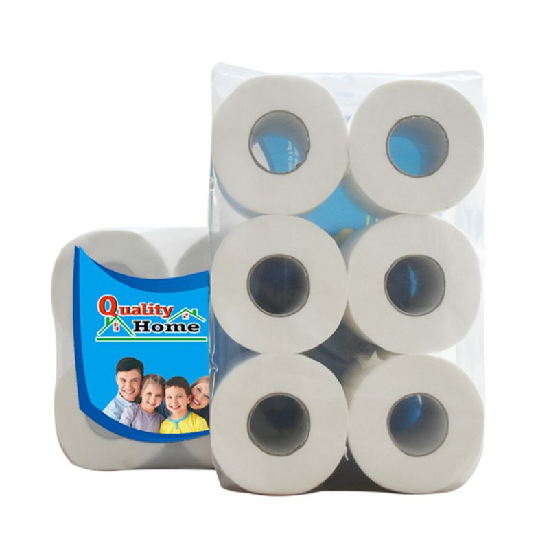 6 Rolls Premium Napkin Roll Paper ,3 Layers Bath Toilet Paper Silky Smooth Soft