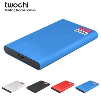 цена на TWOCHI Metal Portable HDD Disco duro extern 160GB 250GB 320GB 500GB Storage External Hard Drive USB3.0 Disk for PC/Mac Xbox PS4
