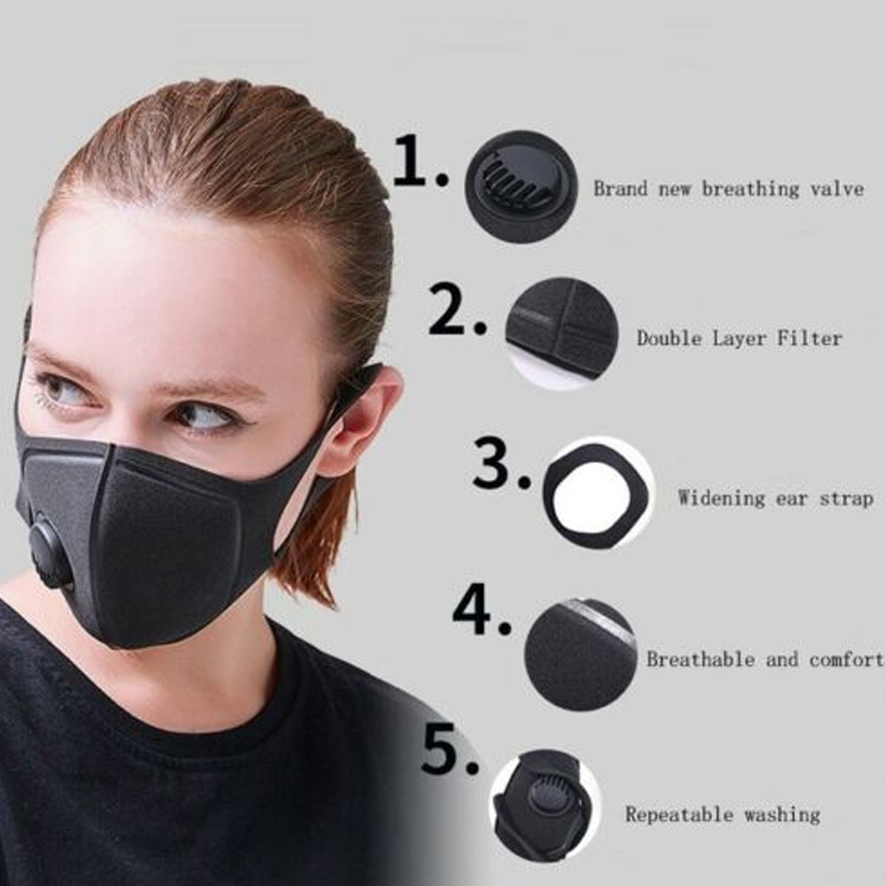 Unisex Mouth Mask Anti Dust Fog Face Mouth Mask Windproof Mask For Women Men Sports Cycling Camping Travel BJStore