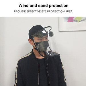 Image 2 - Anti Droplet Baseball Cap Hat With Removable Mask For Outdoor Anti Dust Face Shield Full Protective Mask