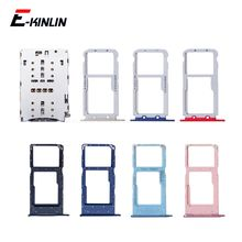 Sim Card Socket Slot Tray Reader For HuaWei Honor View 10 Lite 10i BKL-AL00 AL20 TL00 Micro SD Adapter Container Connector