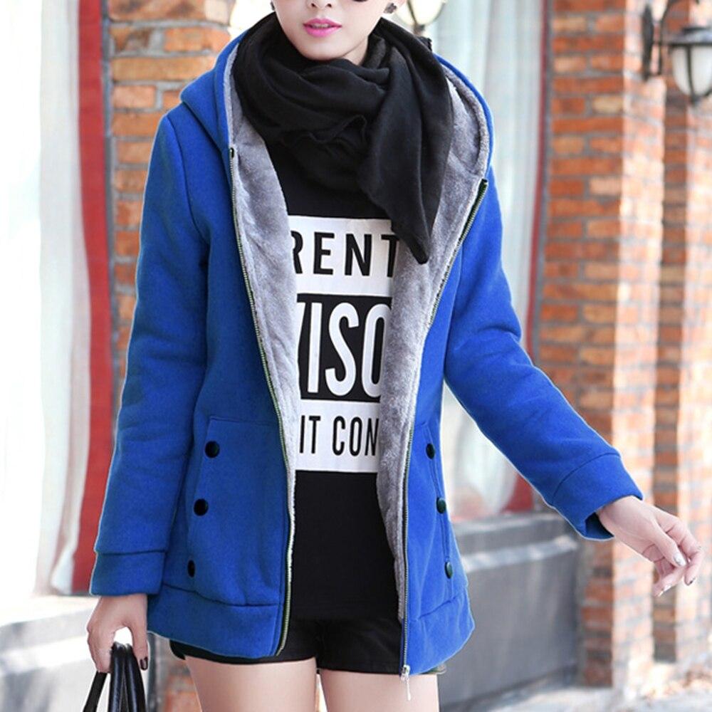 2020 Autumn Winter Casual Warm Thick Hoodies Fashion Fleece Zipper Women Hooded Sweatshirt Plus Size S-4XL Women Clothing