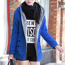 2020 Autumn Winter Casual Warm Thick Hoodies Fashion Fleece Zipper Wome