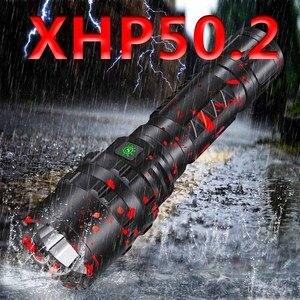 Image 1 - Cree xhp50.2 led el feneri usb şarj streç şok dayanıklı güçlü güç 18650 veya 26650 şarj edilebilir meşale Z901103