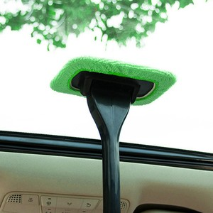 2020 New Soft Microfiber Bonnet Car Washing Brush Window Cleaner Long Handle Dust Brush Windshield Cleaning Brush Detailing#PY10