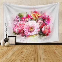 Wall Hanging Tapestry With Floral  Boho Decor Background  Wall Tapestry  Wall Carpet  Dorm Decor for Bedroom Wall Home Decor