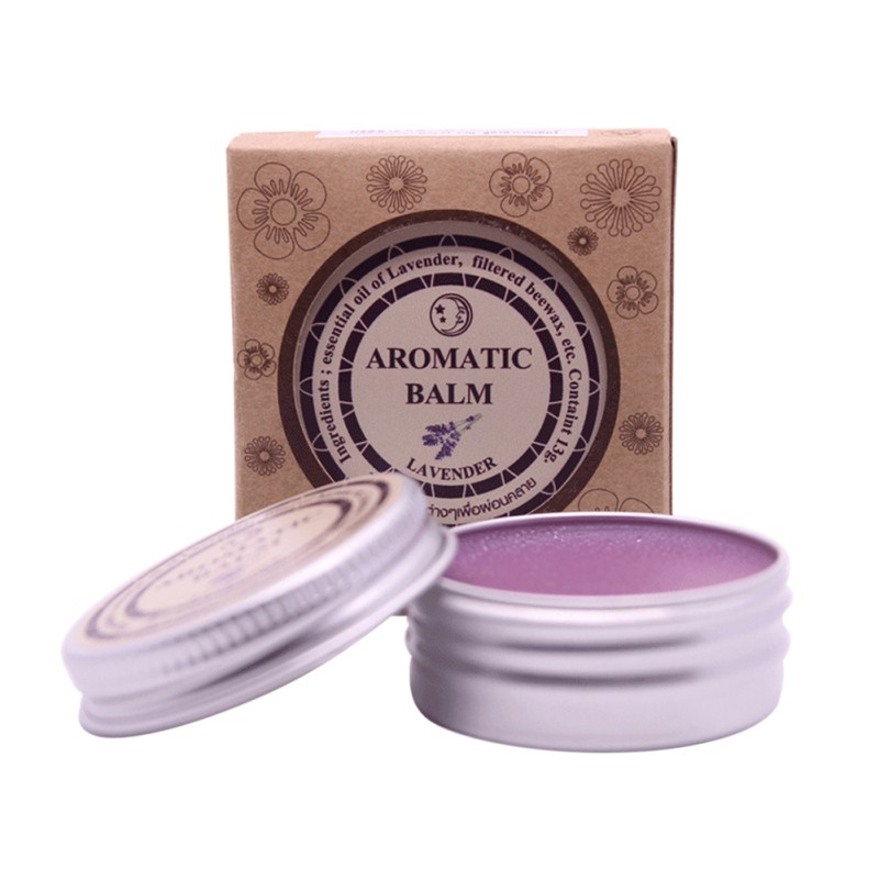 Lavender Essential Balm Solid Perfume Relieve Stress Improve Sleep Natural Fragrance Deodorant Health Care N