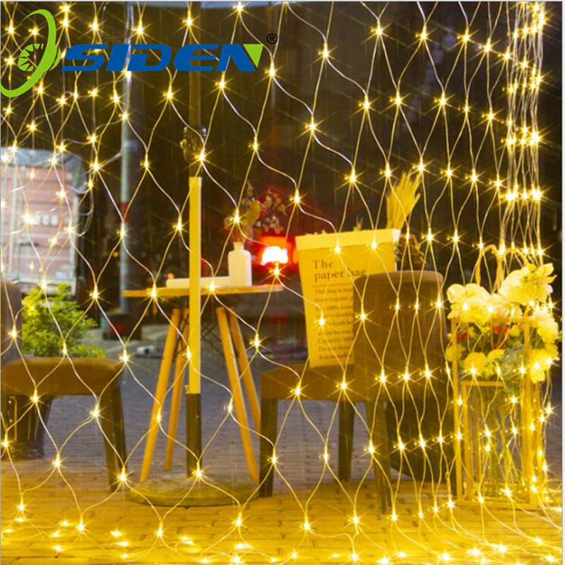 LED Net Curtain Mesh Fairy String Light Christmas 3x2m 200led EU 220V Party Wedding New Year Garland Outdoor garden Decoration
