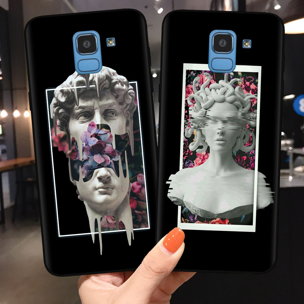 Fashion Statue Abstract <font><b>Art</b></font> Phone <font><b>Case</b></font> For <font><b>Samsung</b></font> <font><b>J3</b></font> J5 J7 2017 J4 J6 Plus 2018 A10 A20 A30 A40 A50 A70 Mona Lisa Cover Coque image
