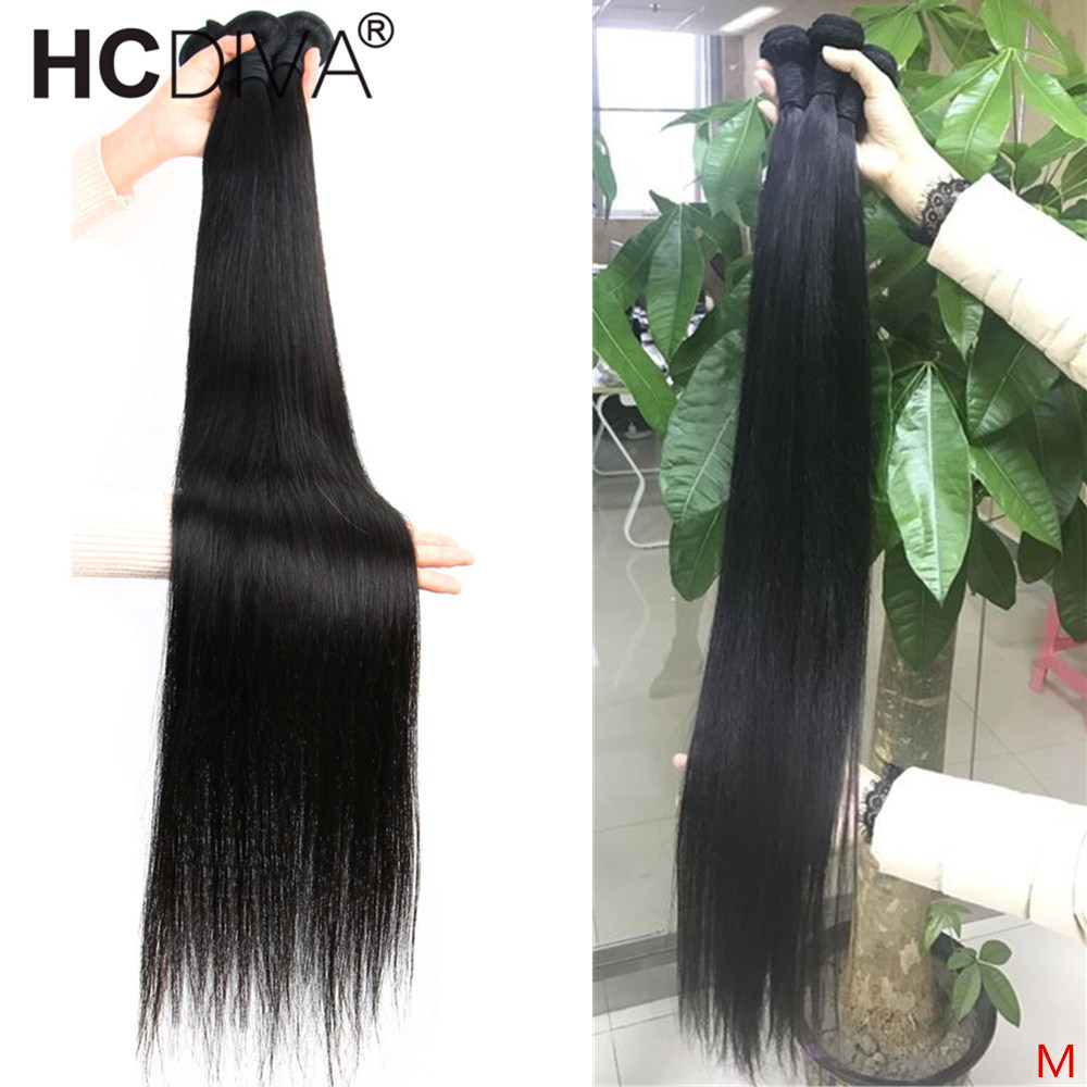 Peruvian Straight Human Hair Bundles 8--40inch 36 38 40 Inch Human Hair Extension 1pcs 3pcs 4pcs 100% Remy Human Hair Bundles