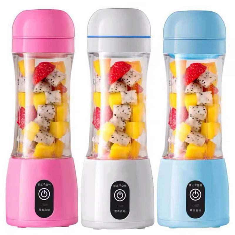 400ml Tragbare Haushalts Obst Kleine Drahtlose Lade Usb Mini Saft Tasse Mixer Entsaften Maschine Küche Zubehör