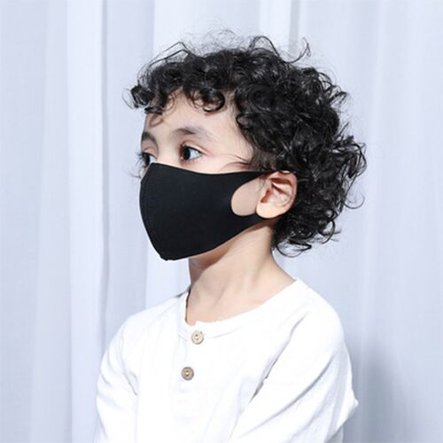10pcs Black Dust Mask For Children To Prevent Flu Vira Influenza Three Layers Child Dustproof Anti Haze Dust  Muffle Respirator