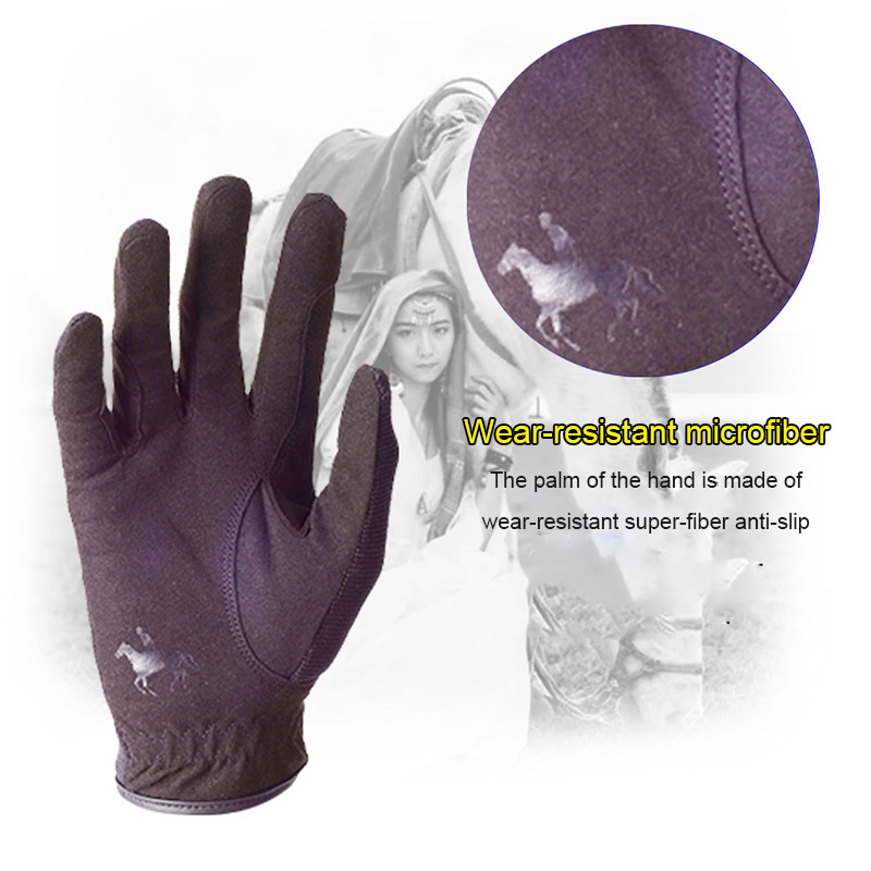 Professional Riding Gloves Equestrian Horse Riding Gloves For Men Women Lightweight Breathable  BB55