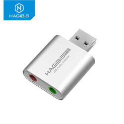 Hagibis Sound Card External USB Audio Interface Adapter 3.5mm Microphone headphone Soundcard for Laptop PS4 Pro Computer Mac