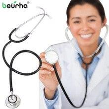 Médical Double face cardiologie médecin stéthoscope professionnel médical coeur stéthoscope infirmière étudiant équipement médical dispositif