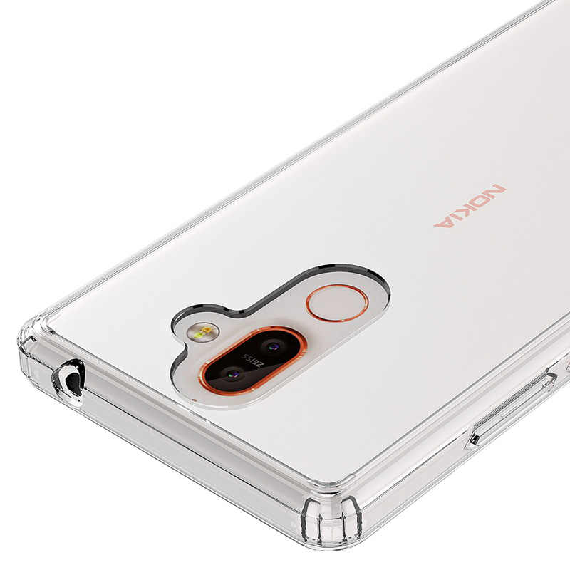 Applicable Nokia NOKIA7plus Transparent Phone Case Simple 7 + Acrylic TPU Soft Protection Phone Case