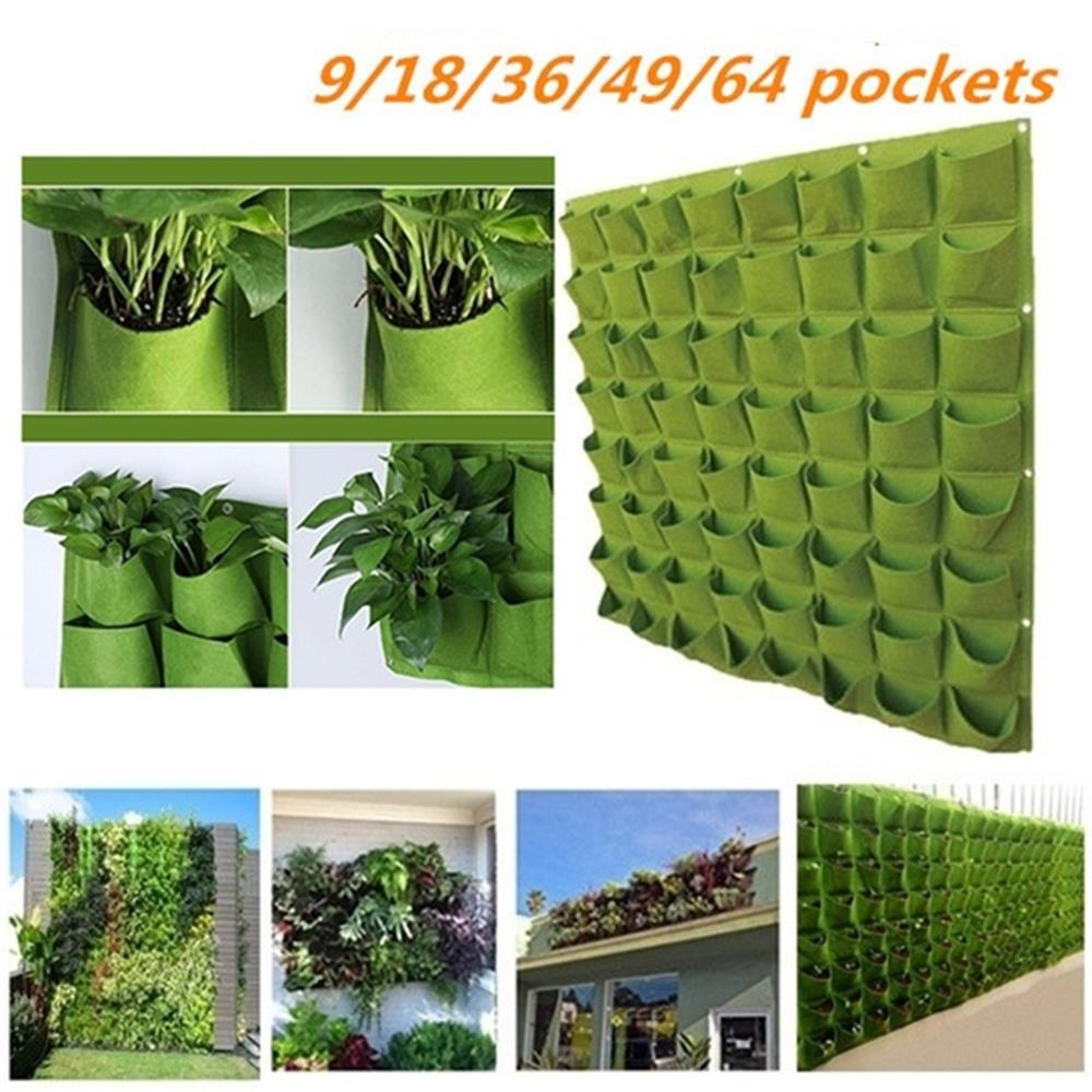 Potato Grow Pot Garden Container 9/18/36/49/64 Pockets Nonwoven Spring Vegetable Planter Vertical Balcony Seedling Bag
