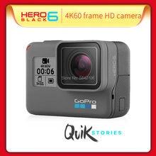 Gopro hero 6 esporte câmera de movimento 4k câmera de vídeo ação câmera edição 4k ultra hd wi-fi câmera à prova dwaterproof água