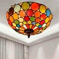 Креативный Средиземноморский винтажный Тиффани цветной стеклянный коридор балкон лобби спальня бар потолочный светильник 30 см