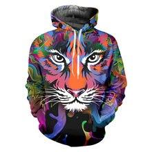 Ogkb брендовые новые толстовки с тигром для мужчин 3d принтом