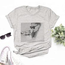 Ariana Grande estampado estilo coreano mujeres camiseta Kawaii Vintage cómodo de manga corta o-cuello gris Tee 2020 novedad de verano Casual Top