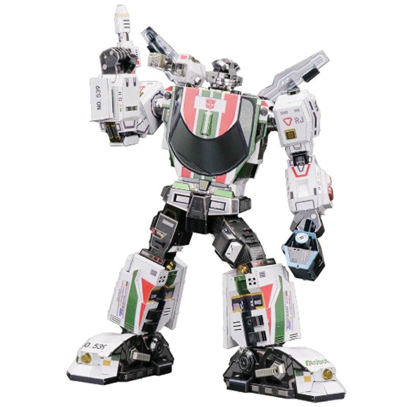 Nouveauté MU 3D métal Puzzle Figure jouets Robot Wheeljack modèle assembler Puzzle 3D modèles cadeau jouets pour enfants et adultes