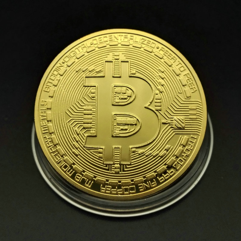 Gold Plated  US Gold Coin Bitcoin BTC Coin Foreign Currency Virtual Coin Commemorative Novelty Collect Historical Memorabilia