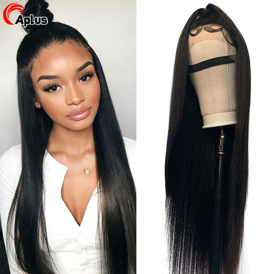 Straight Lace Frontal Wigs Brazilian Remy Long Lace Front Wig 13x4 13x6 360 Deep Part Human Hair Wig For Black Women Aplus Hair
