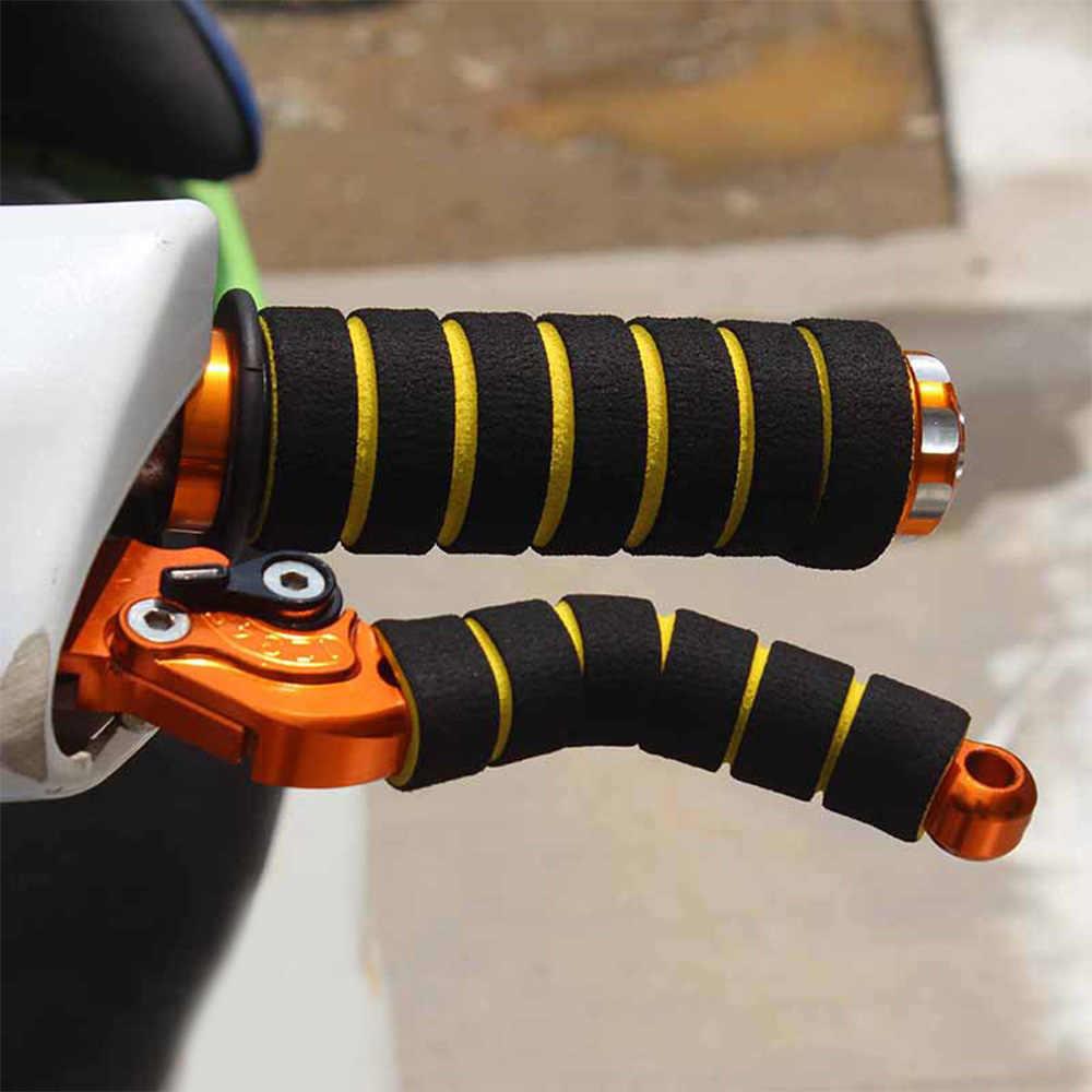 4 pièces moto vélo course guidon manches anti-dérapant mousse éponge poignée couverture souple frein vélo poignée manches en gros nouveau