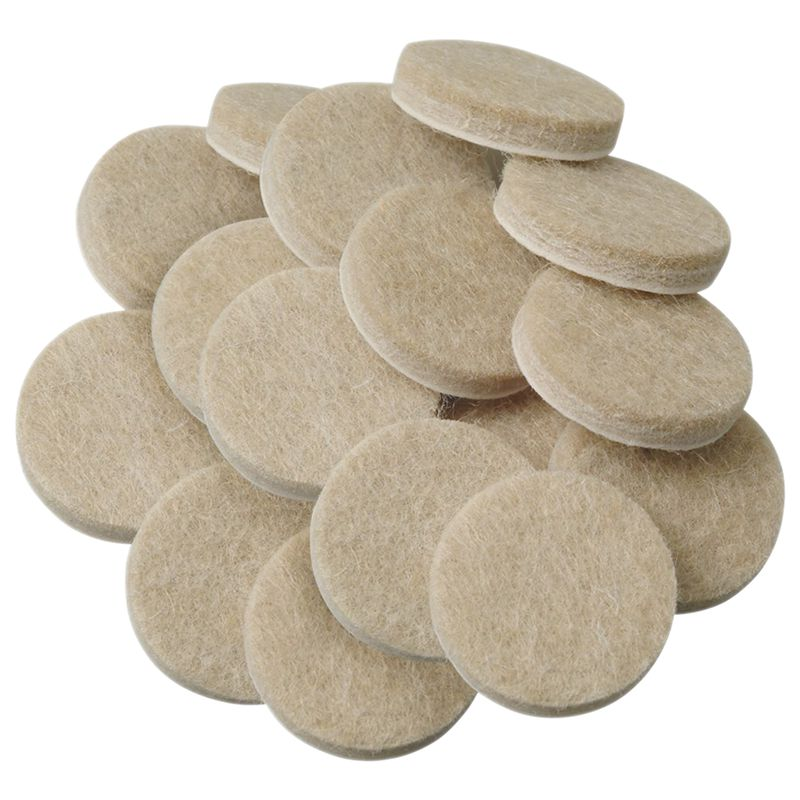 EASY-Self-Stick Furniture Round Felt Pads For Hard Surfaces 48-Pcs