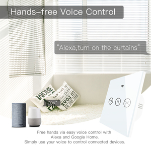 Image 5 - RF WiFi חכם מגע וילון תריסי רולר תריס מתג Tuya חכם חיים App שלט, עבודה עם Alexa הד Google בית