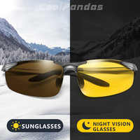 CoolPandas Aluminum Photochromic Polarized Sunglasses Men Driving Glasses Women Day Night Driver Goggles Oculos De Sol Masculino