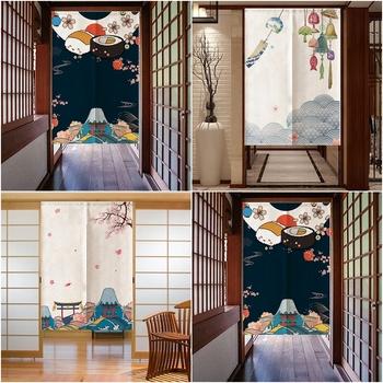 Japoński zasłona do drzwi ekrany pyłoszczelna zasłona do drzwi ekrany kuchenne dekoracje do wnętrz do sypialni Split kurtyna do drzwi tanie i dobre opinie DREAM HOUSE DOOR Drzwi i okna ekrany JS0710 Other