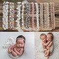 Сдержанной великолепный жемчуг повязка на голову, комплект из От 0 до 1 года близнецов реквизит для фотографирования новорожденных