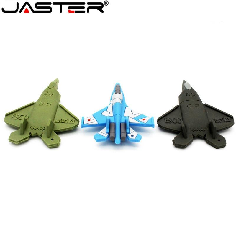 JASTER Creative Mini Cartoon Aircraft Model Pendrive 4GB 8GB 16GB  32GB 64GB Airplane USB Flash Drive Fashion Memory Stick Gift