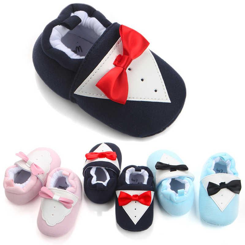 Diseño de corbata niños pequeños primeros caminantes zapatos de Bebé Zapatos de punta redonda zapatos suaves zapatos de bebé niño niña suave antideslizante calzado